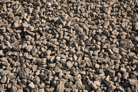 aggregates: gravel at dry sunny day Stock Photo
