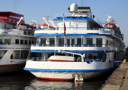 berth: three-dec ship by berth at day to be anchored