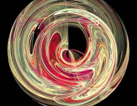 fantasy: image of one Digital Fractal on Black Color