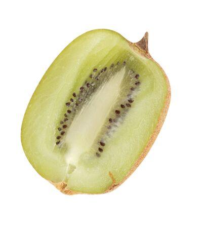 actinidia deliciosa: raw kiwi isolated on white
