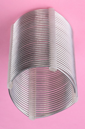 radio coil on pink background