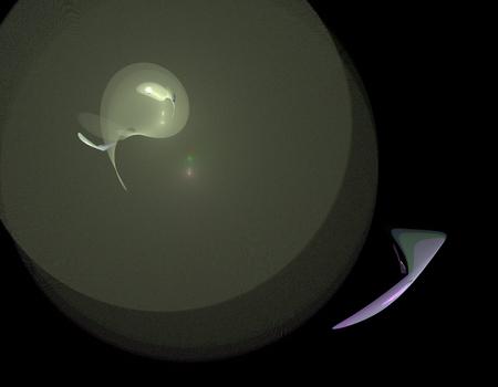 raster: image of one Digital Fractal on Black Color