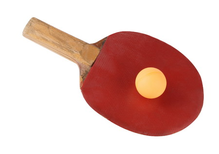 assembled: table tennis bat isolated Stock Photo
