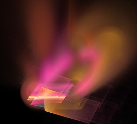 diamond ring: image of one Digital Fractal on Black Color
