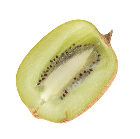 raw kiwi isolated on white