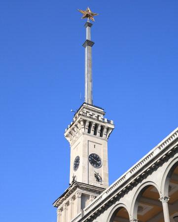 soviet spire of river port