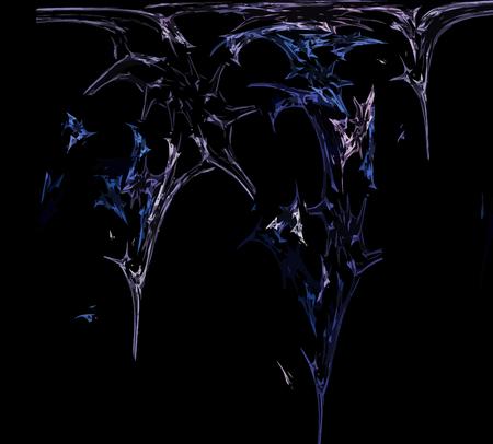 Digital Fractal on Black Color