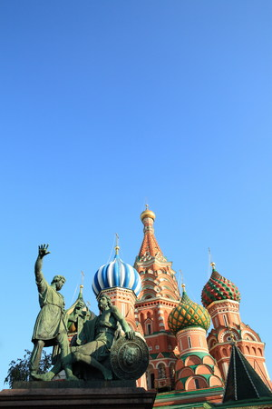 blessed basil cathedral and Statue of Minin and Pozharsky