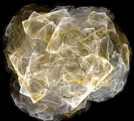 Ilustración de vector de fractal digital