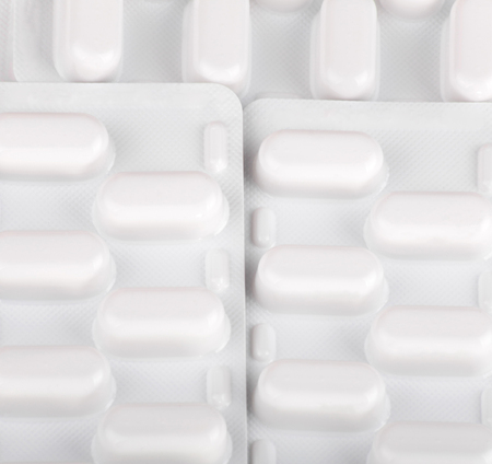 many tablets in blister Stock Photo - 113677434
