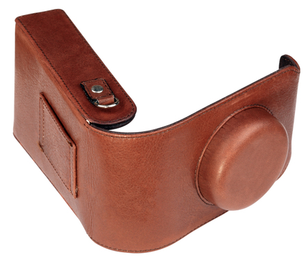 leather camera cover isolated