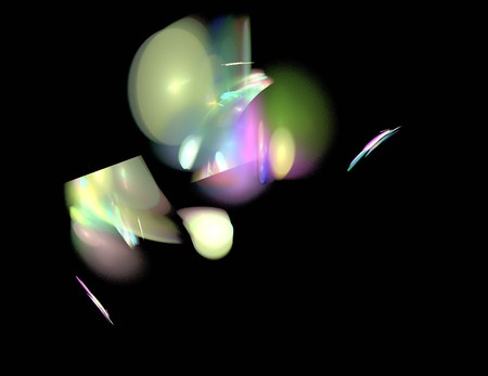 image of one Digital Fractal on Black Color
