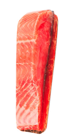piece of red fish fillet isolated on white Imagens