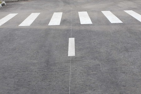 pedestrian crossing on road at day Stock Photo
