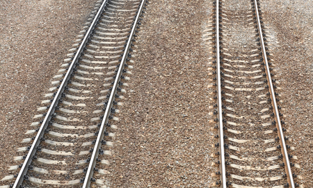 railway at day on gravel background