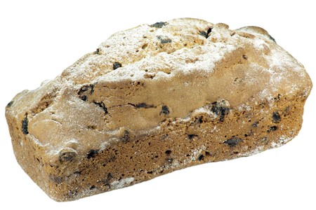 cake with raisin and sugar dust Stock Photo