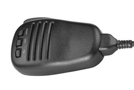 black handheld dynamic microphone for radio communication