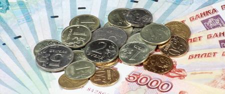 stack of coin and cash Reklamní fotografie
