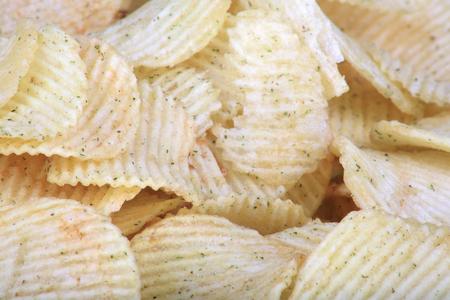 many of potato chips horizontal texture Reklamní fotografie