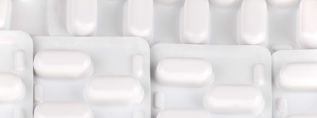 many tablets in blister Stock Photo - 123115317