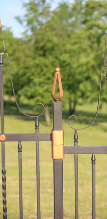 fence with gold decoration
