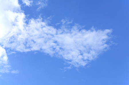 White clouds on sky background