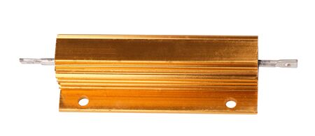 Resistor in Metal Case Isolated 写真素材