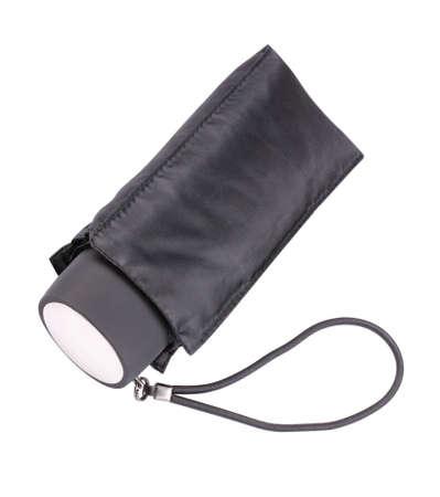 Black Closed Umbrella Isolated 스톡 콘텐츠