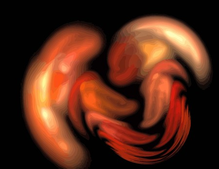 une illustration de fractale numérique avec multicolore
