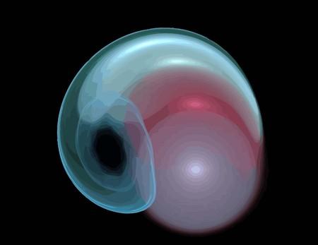 uno Illustrazione del frattale digitale con multicolor