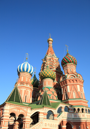 blessed  Basil cathedral at day 写真素材 - 121392724