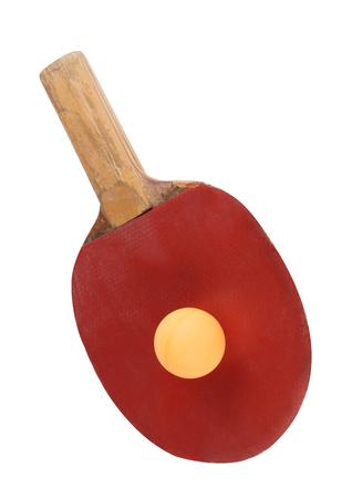 table tennis bat isolated