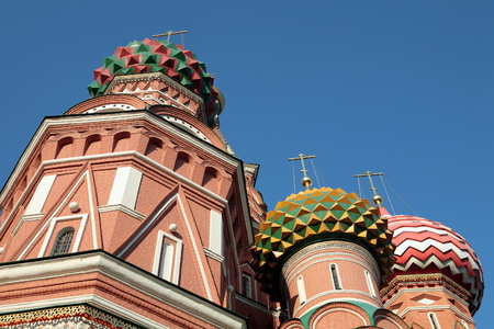 blessed  Basil cathedral at day on sky 写真素材 - 120956384