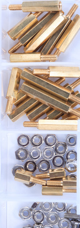 Brass Standoff Spacer Male and Female set in plastic container
