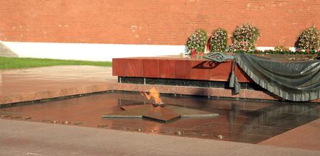 russian Kremlin eternal flame post Stock Photo