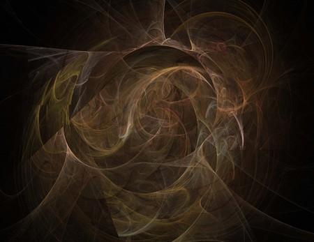 immagine di un frattale digitale su colore nero