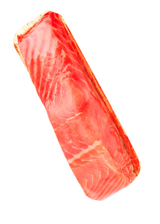 piece of red fish fillet isolated on white 版權商用圖片