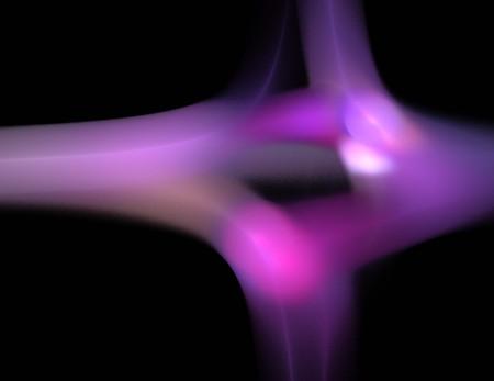 Image of a digital fractal on black color background Imagens