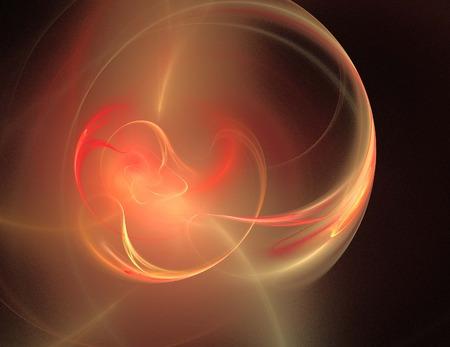Image of a digital fractal on black color background