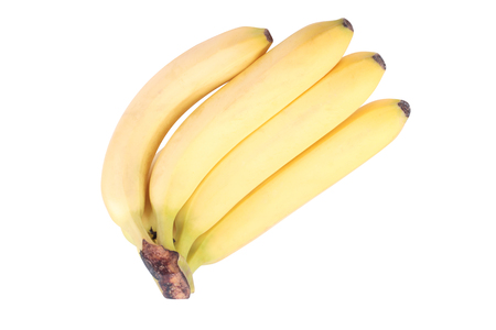 Ripe yellow banana isolated on a white background