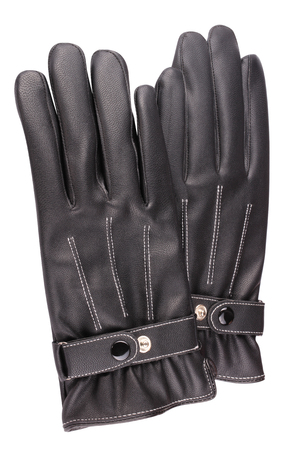 two Leather Gloves Isolated