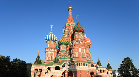 blessed  Basil cathedral at day 写真素材 - 121397380