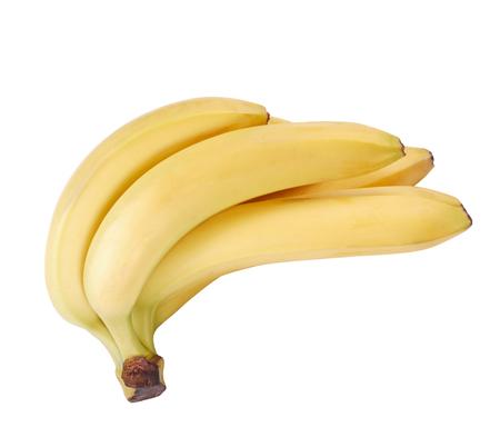 many yellow banana isolated at dry sunny day