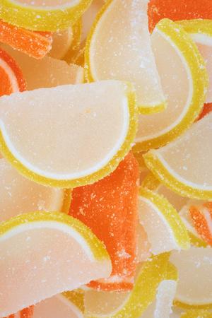 many Multicolor Fruit Jelly