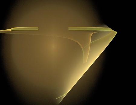 image of one Digital Fractal on Black Color Stok Fotoğraf - 121774297