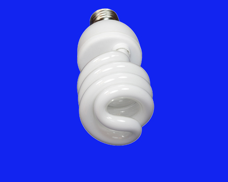 luminous tube lamp on blue background