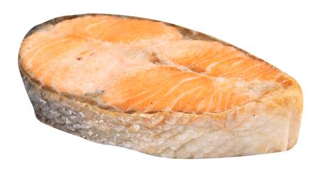 Steak de saumon isolé Banque d'images