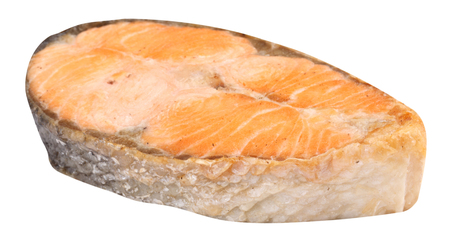 Steak of Salmon Isolated