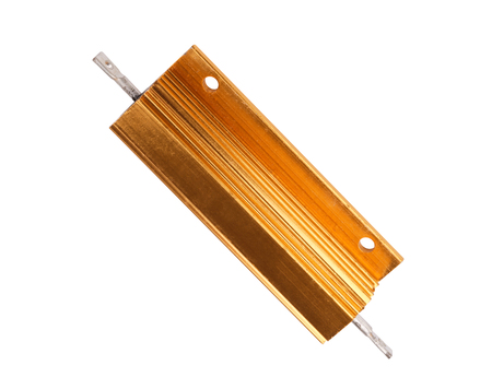 Resistor in Metal Case Isolated Stock Photo