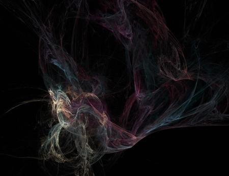 Bild von einem Digital-Fractal auf schwarzer Farbe